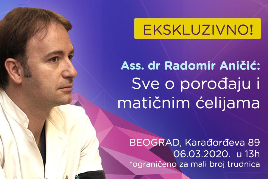 EKSKLUZIVNO SA GINEKOLOGOM!  Ass. dr Radomir Aničić: Sve o porođaju i matičnim ćelijama