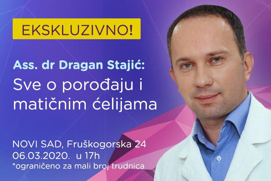 EKSKLUZIVNO SA GINEKOLOGOM!  Ass. dr Dragan Stajić: Sve o porođaju i matičnim ćelijama